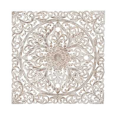 Traditional Carved Floral Medallion Wall Decor - Wayfair