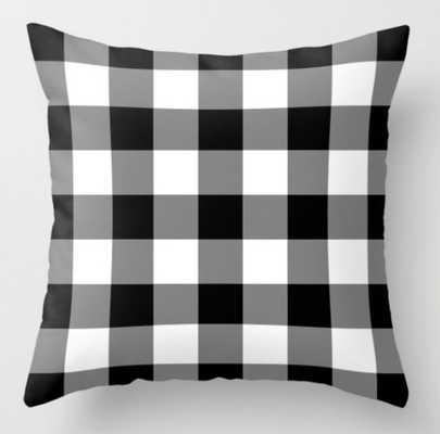 Black and White Buffalo Plaid by Sutton Place Designs (indoor) - Society6