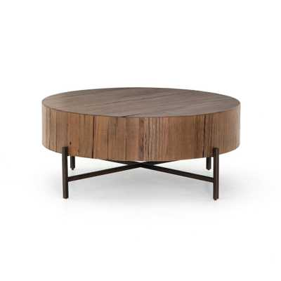 Tinsley Coffee Table in Natural Brown - Burke Decor