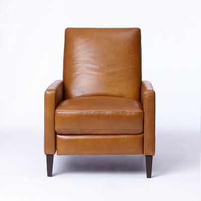 Sedgwick Recliner, Leather, Saddle, Acorn - West Elm