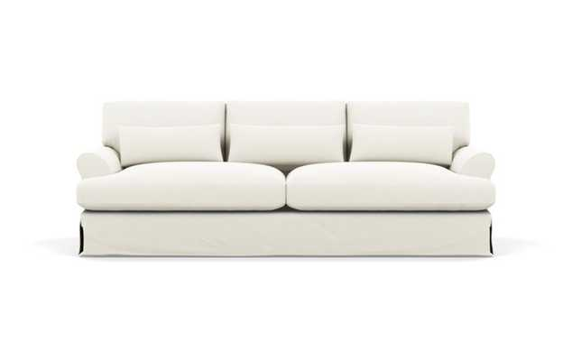 "Maxwell Slipcovered Sofa in Ivory Heavy Cloth 90"" LONG - Interior Define"
