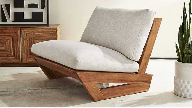 sunset teak lounge chair - CB2