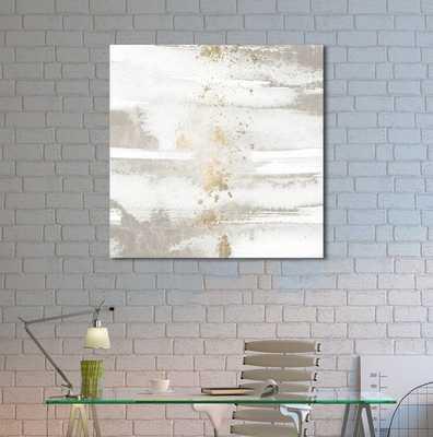 'Sun and Rain Abstract Art' Wrapped Canvas Print - Wayfair