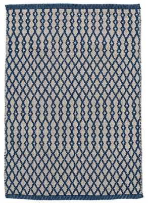 HARVEY NAVY INDOOR/OUTDOOR RUG - 8 x 10 - Dash and Albert