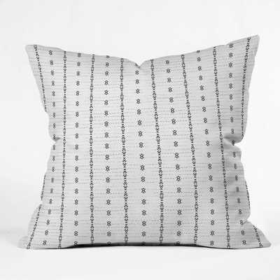 FRENCH LINEN TRIBAL STRIPE Throw Pillow - 20x20 - Wander Print Co.