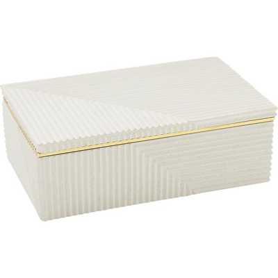 chelsea white concrete box - CB2
