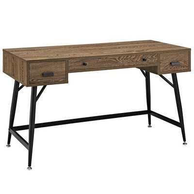 Surplus Office Desk in Walnut - Modway Furniture