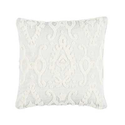 Ballard Designs Textured Ikat Pillow Ivory - Ballard Designs