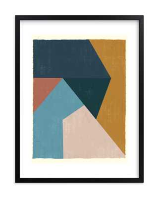 Geo Abstract - 18x24, black wood frame w/ white border - Minted