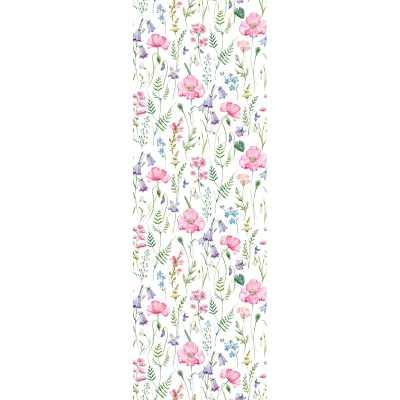 "Jersey Removable Field Flowers Mix Nursery 6.25' L x 25"" W Peel and Stick Wallpaper Roll - Wayfair"