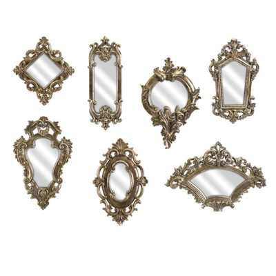 Loletta Victorian Inspired Mirrors - Set of 7 - Mercer Collection