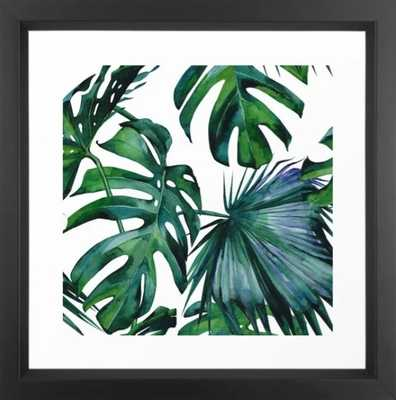 Tropical Palm Leaves Classic Framed Art Print - Society6