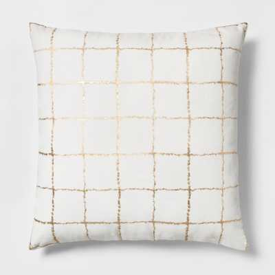 Metallic Grid Oversize Square Throw Pillow - Project 62™ - Target