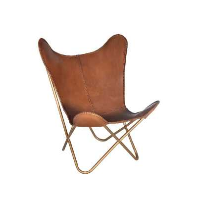 Justa Leather Lounge Chair - Wayfair