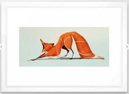 Fox 2 Framed Art Print - Society6
