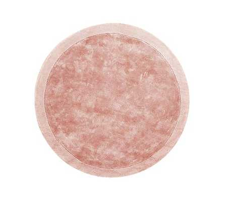 Reagan Round Rug, 5 Ft Round, Blush - Pottery Barn Kids
