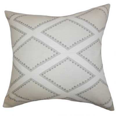 "Alaric Geometric Pillow Gray - 20""- COVER ONLY - Linen & Seam"
