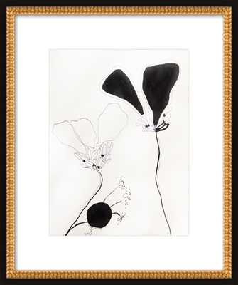 Flower Study 1 w/ Contemporary - Artfully Walls