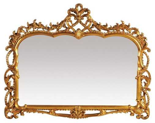 Antique Inspired Landscape Mirror, Gold - One Kings Lane