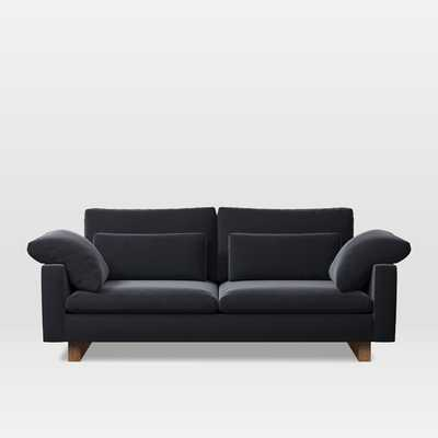 "Harmony Down-Filled Sofa (82""), Performance Velvet, Shadow - West Elm"