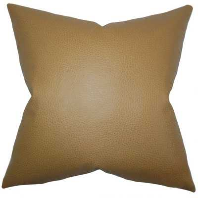 QUINTAS SOLID PILLOW KHAKI - WITH INSERT - Linen & Seam