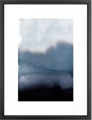 "In Blue Art Print, FRAME Vector Black, Medium (gallery) - 20"" X 26"" - Society6"