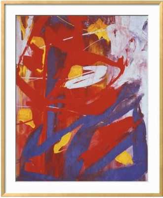 "Abstract Painting, C. 1982 - Andy Warhol - 28"" x 34"" - Ramino Gold Thin - art.com"