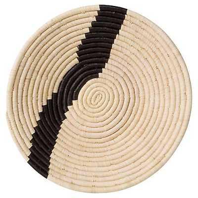 "12"" Dolow Stripe Basket, Natural/Black - One Kings Lane"