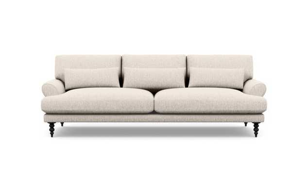 "Maxwell Sofa - 90"" - Cross Weave Wheat - Matte Black Tapered Turned Leg - Interior Define"