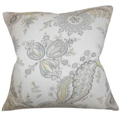 """Dilys Floral Throw Pillow- 20"""" down insert - Linen & Seam"""