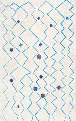 "Hand Tufted Ninfa Moroccan Shag - 7'6""x 9'6"" - blue - Loom 23"
