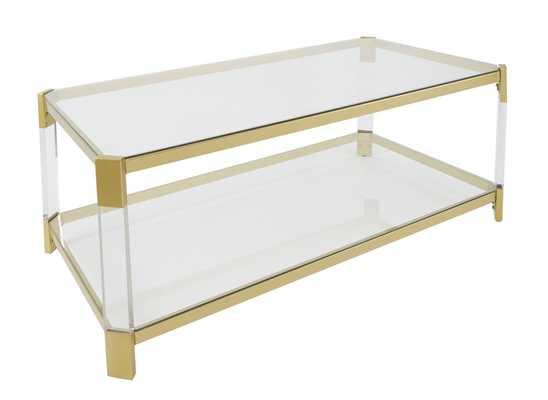 Everly Quinn Hythe Clear Glass Coffee Table - Wayfair