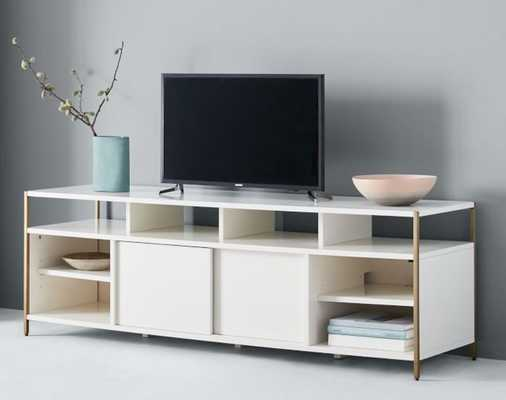 "Zane Media Console (68""), White - West Elm"