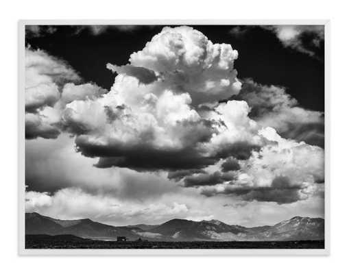 Thunderhead Dance - 40 x 30, white wood frame - Minted
