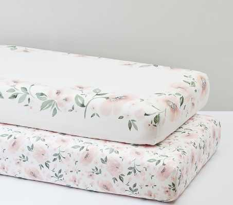 Meredith Picture Perfect & Allover Floral Organic Fitted Crib Sheet Bundle - Set of 2 - Pottery Barn Kids