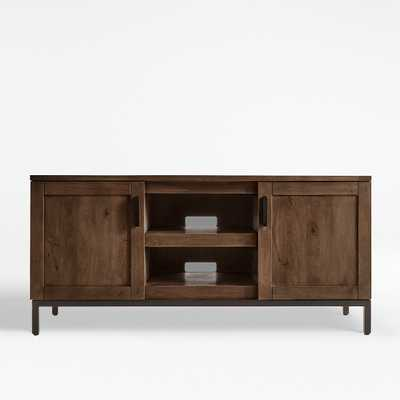 "Wyatt Grey 60"" Media Console - Crate and Barrel"