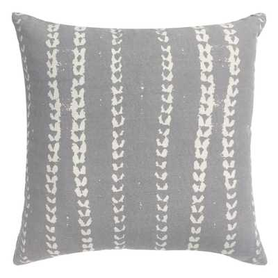 vines pillow in grey (insert included) - PillowPia