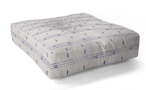 French Linen Stripe Floor Pillow Square - Wander Print Co.