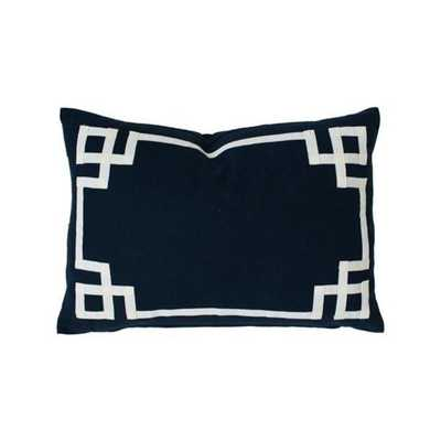 """Navy Deco Pillow - 16""""x26"""" -Cover Only - Caitlin Wilson"""