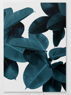 Indigo Plant Leaves Canvas Print - Society6
