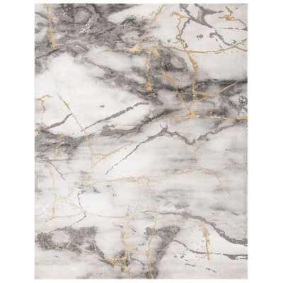 Coupland Abstract Gray Area Rug - Wayfair