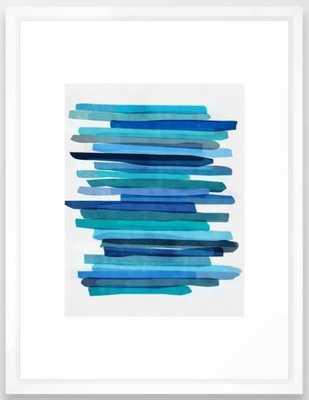 Blue Stripes Framed Art Print by Maboe - Society6