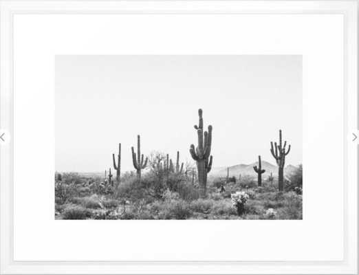 DESERT / Scottsdale, Arizona Framed Art Print 26x38 - Society6