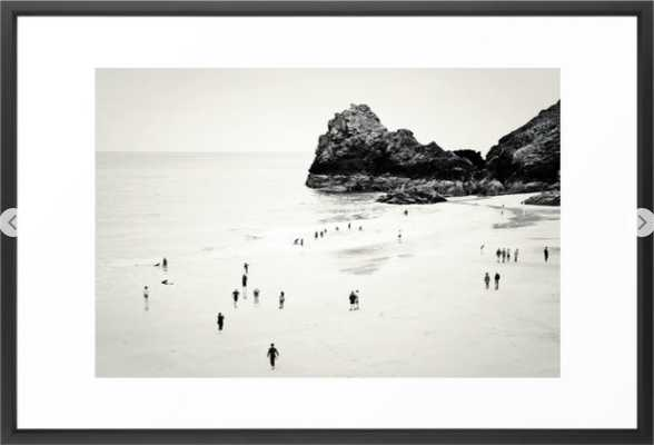 Cornwall beach life Framed Art Print - Society6