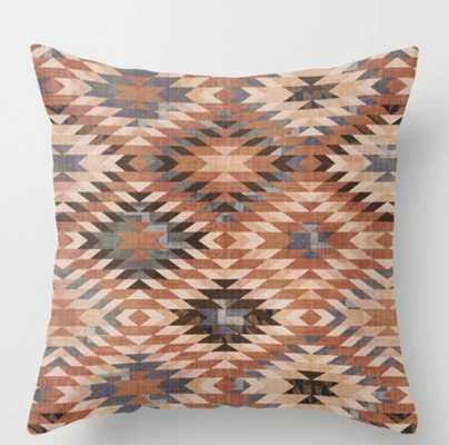 Arizona Southwestern Tribal Print Throw Pillow - Society6