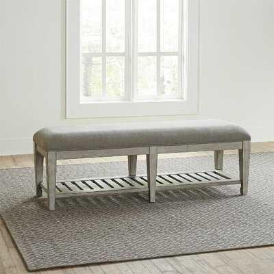 Marion Upholstered Shelves Storage Bench - Wayfair