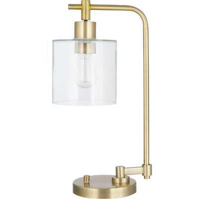 Hudson Industrial Desk Lamp Brass Includes Energy Efficient Light Bulb - Threshold - Target