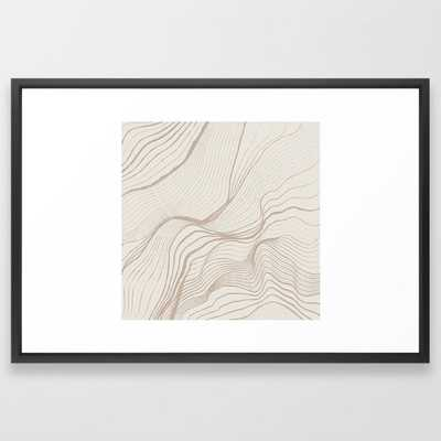 Canyon Lines II Framed Art Print - Society6