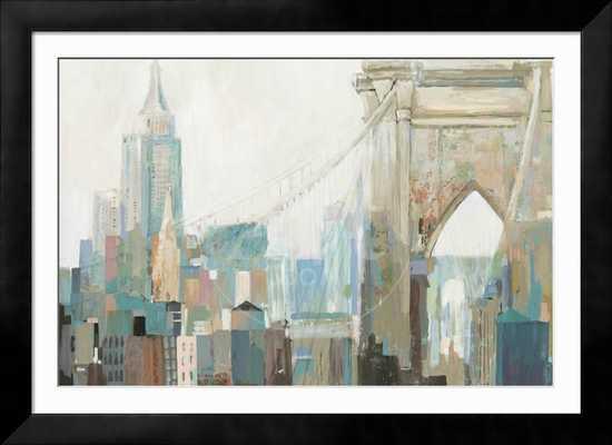 """City Life I - Chelsea Black Frame, 54"""" x 36"""" - art.com"""