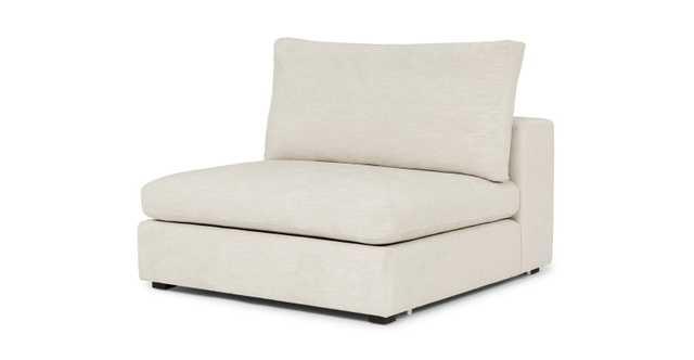 Gaba Pearl White Armless Chair Module - Article